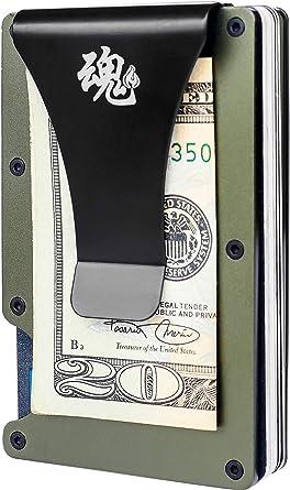 Green Carbon Fiber Money Clip Luxury Designer Money Clip for Cash /& Cards