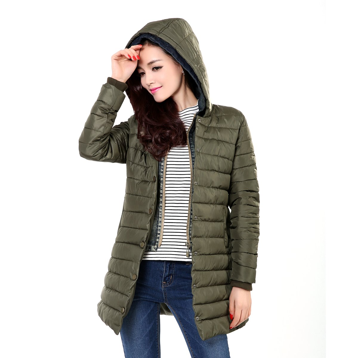 Xuanku Dicker In Der Langen Absatz Daunenjacke Baumwolle Mint Herbst Und Winter Jacke