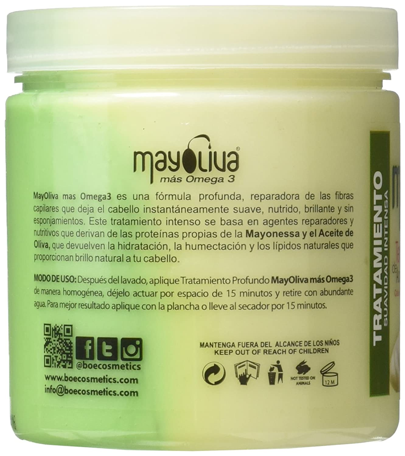 Amazon.com: Mayoliva Intensive Conditioning Therapy for Dry & Damaged Hair, 8.5 Ounce: Beauty