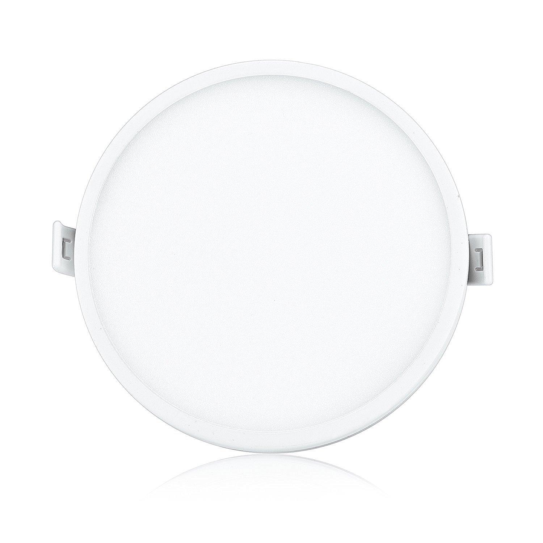 Liqoo® 6W Focos LED Panel Luz de Techo Downlight Ultra delegada Transformador Incluido Redondo Blanco Cálido 3000K 30 leds Ángulo de visión 120° 450LM: ...