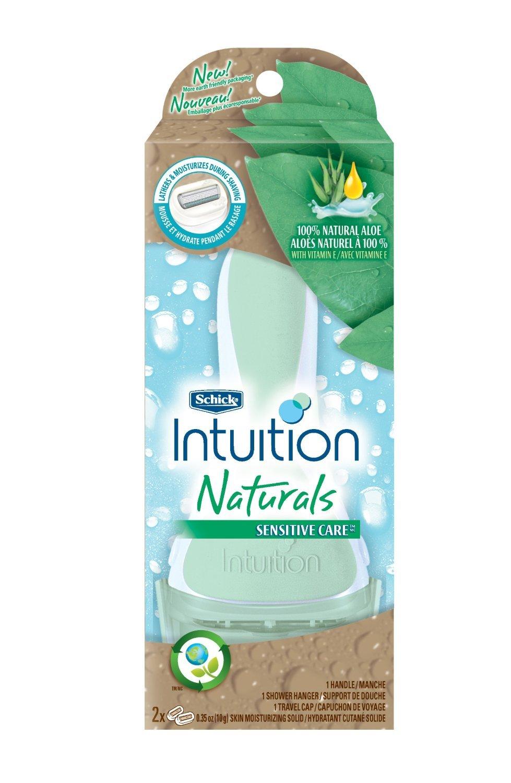 Schick Intuition Plus Naturals Sensitive Care Razor (Pack of 3).