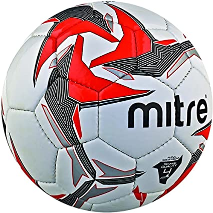 Mitre Tempest Futsal Indoor Training Football - White/Black/Red ...