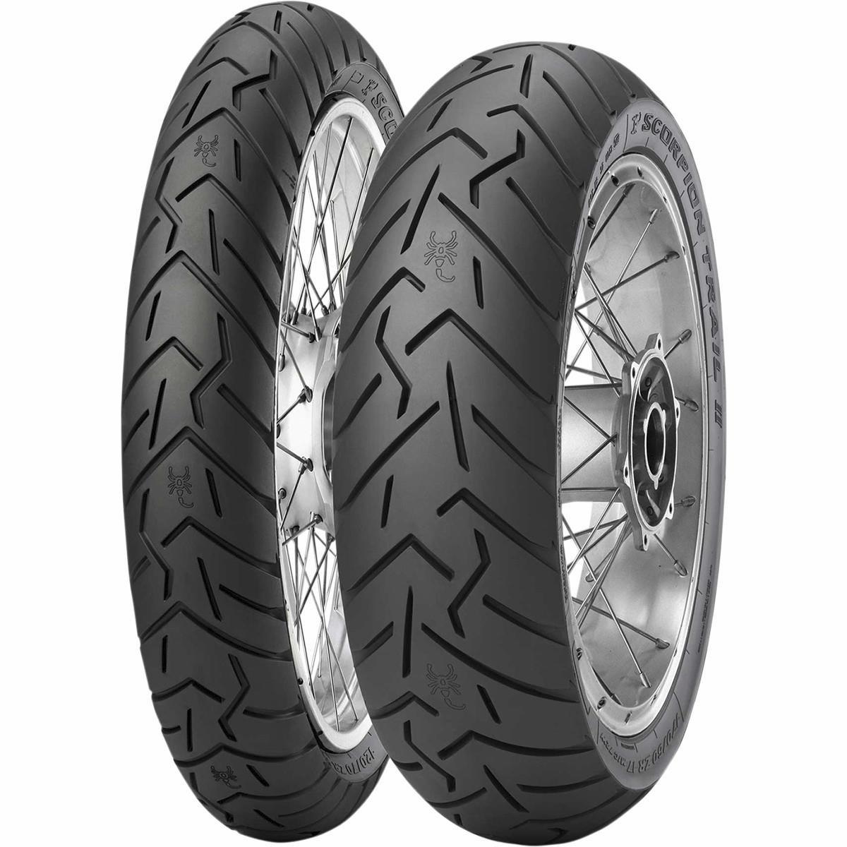 Pirelli Scorpion Trail II Dual Sport Front Tire - 120/70ZR-19/Blackwall by Pirelli