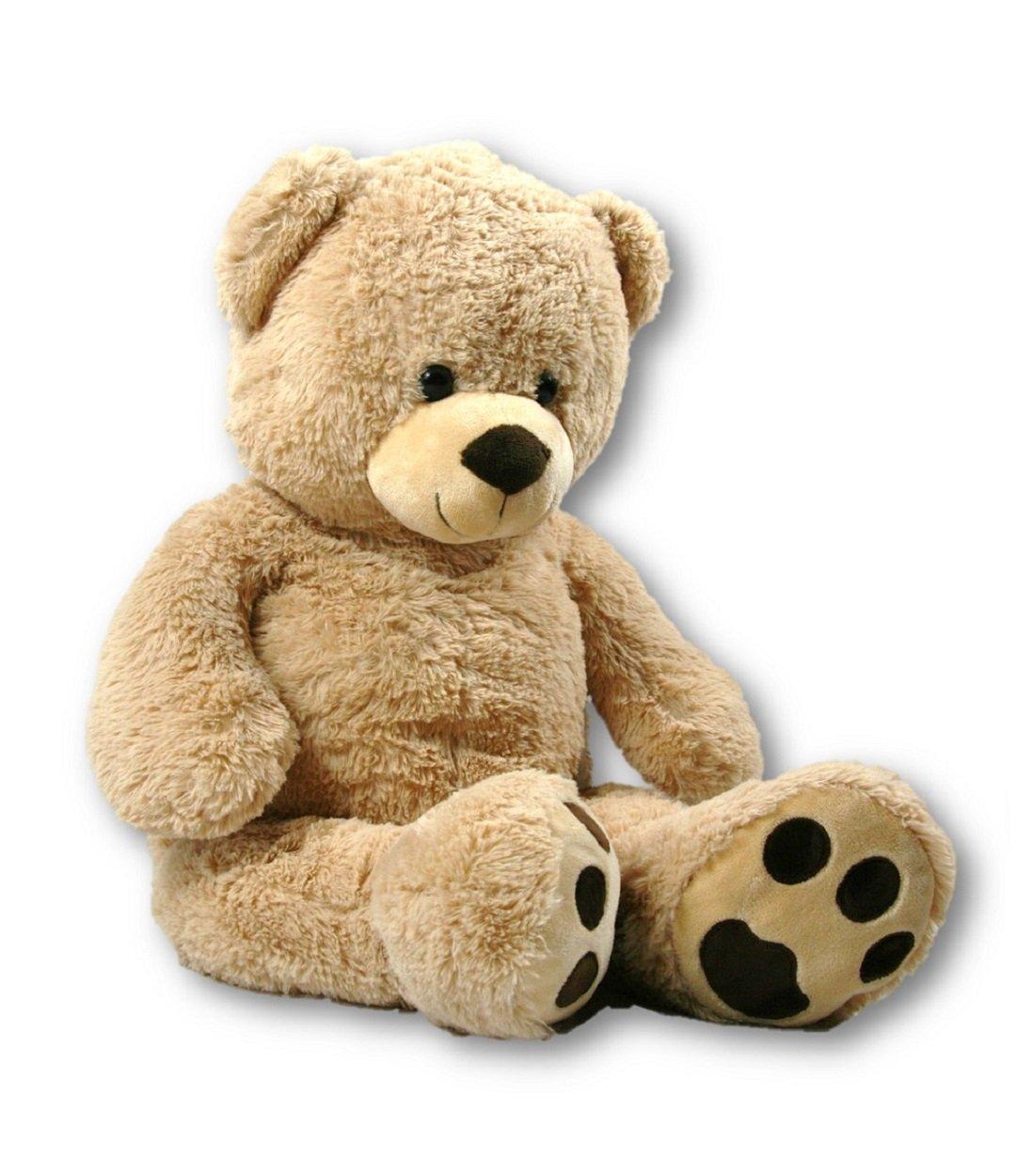 XXL Teddybär Bär 1m hellbraun Kuschelbär 100 cm Teddy Plüschtier Kuscheltier Unbekannt