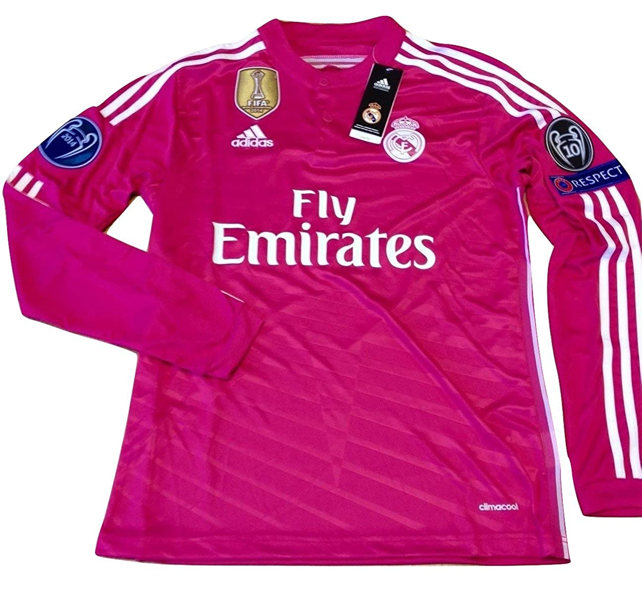 huge discount 6dae7 d0184 Amazon.com: Real Madrid pink jersey Cristiano Ronaldo long ...