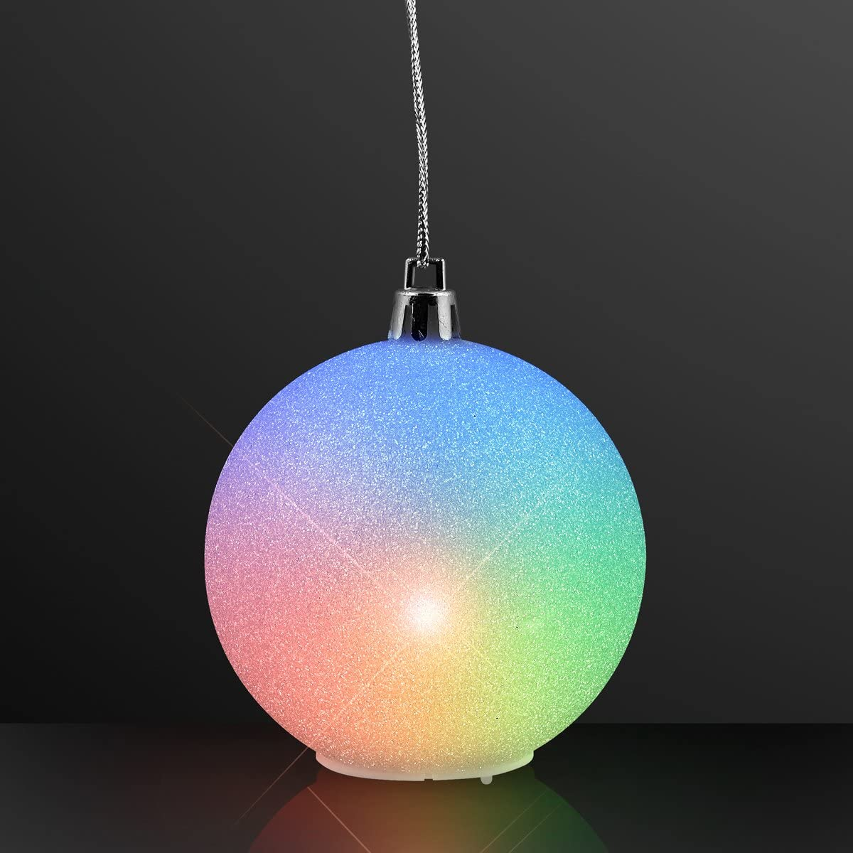 Pink Blue Green Glitter Light Bulb Foam Ornaments 24pc AGD Christmas Decor
