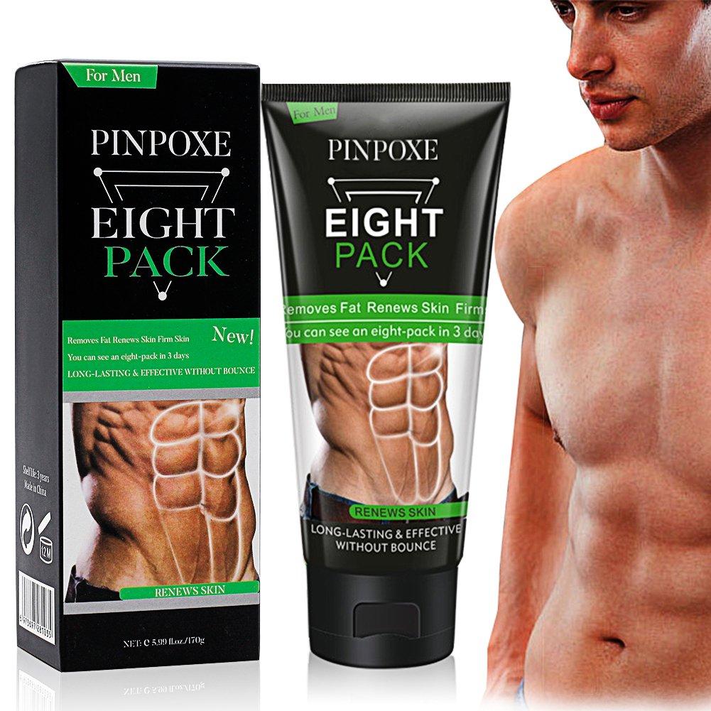 Abdominales Crema, potentes más muscular Anti Celulitis quemar Grasas Peso Pérdida Crema, 170g PINPOXE