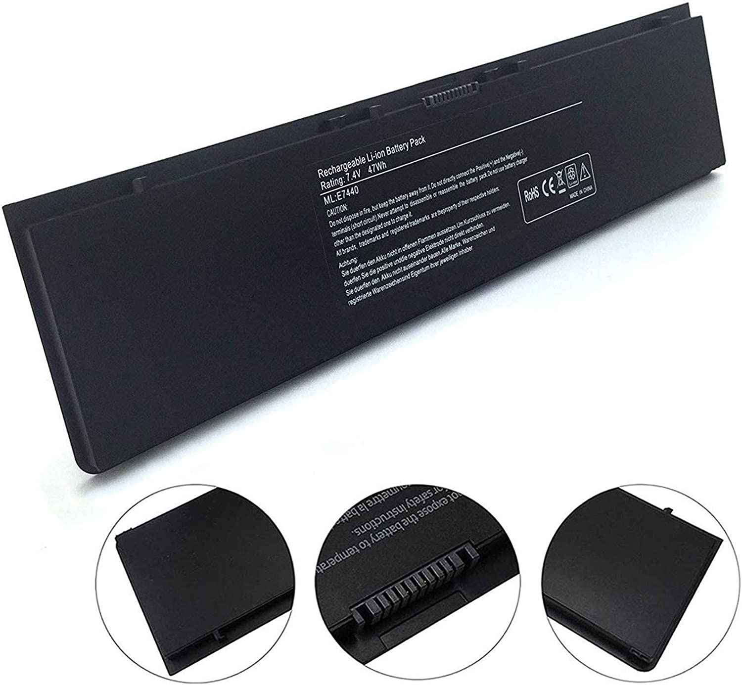 E7440 Laptop Battery Compatible with Dell Latitude E7450 E7420 E225846 Series 34GKR 3RNFD PFXCR F38HT T19VW G95J5,0G95J5 5K1GW [7.4V 47WH Black]-18 Months Warranty
