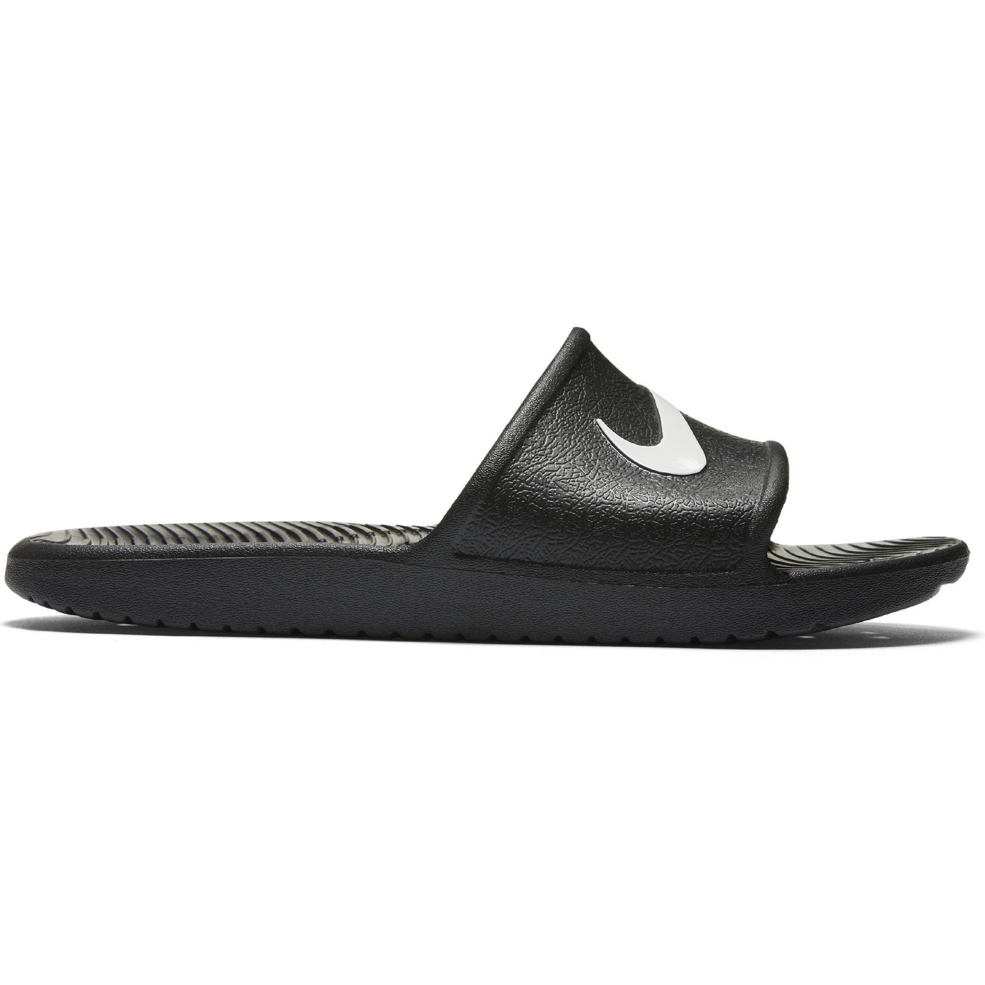 785a5cc58e2 Galleon - Nike Kawa Shower Slide Sandals Black White Men s Size 10