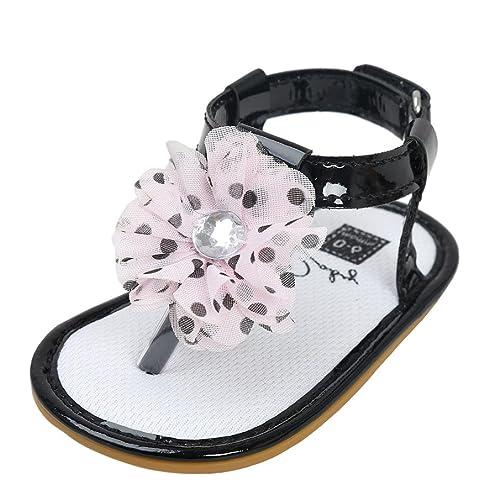 sandalias nina verano baratas Switchali Recién nacido zapatos bebe niña primeros pasos con suela blanda princesa