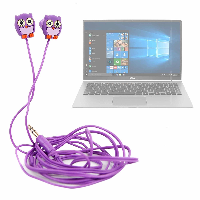 DURAGADGET Auriculares para niños estéreo in Ear con diseño de búho para Portátil LG gram 15Z980-B, ASUS Zenbook 3 UX490UA-BE029R, Acer Aspire 3-A315-41S, ...