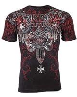 Xtreme Couture AFFLICTION Men T-Shirt BOLD CIPHER Tattoo Biker MMA UFC