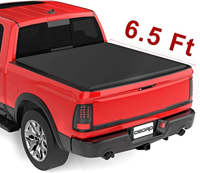 Amazon Com Oedro Upgraded Soft Tri Fold Truck Bed Tonneau Cover On Top Compatible With 2002 2020 Dodge Ram 1500 Incl 2019 New Body 2003 2018 Dodge Ram 2500 3500 With 6 4ft Bed Fleetside Without Ram Box Automotive