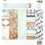 """Craft Smith Christmas Paper 6 x 6"""", Ice Crystals"""