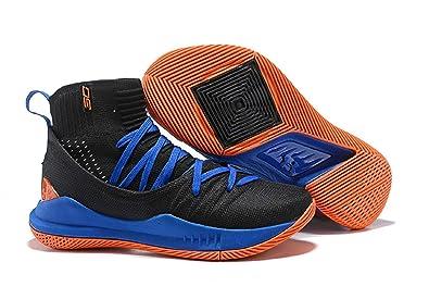 UnderArmour UA Curry 5 Black-Blue Men s Basketball Shoes  Buy Online ... 98326ac88826