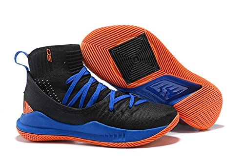 3cbcb919732 UnderArmour UA Curry 5 Black-Blue Men s Basketball Shoes (7 UK)  Buy ...