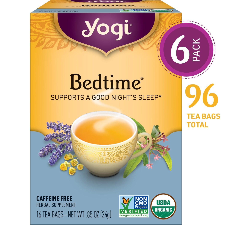 Yogi Tea - Bedtime - Supports a Good Night's Sleep - 6 Pack, 96 Tea Bags Total by Yogi