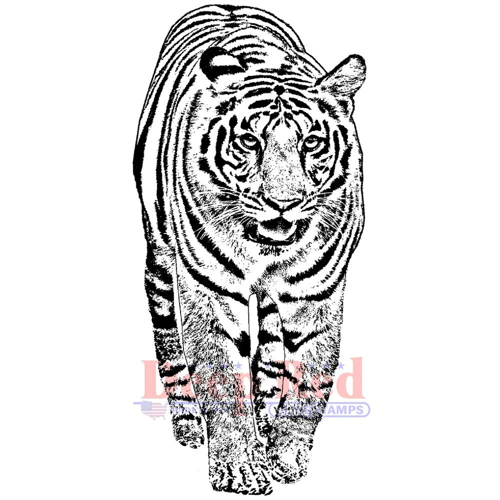 Deep Red Bengal Tiger Rubber Cling Stamp