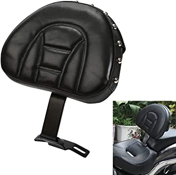 Black Adjustable Plug-in Driver Backrest Pad Rider Back Rest Pocket For Harley Dyna Heritage Softail Fatboy 1997-2017// Electra Glide Road King 1997-2016// Road Glide 1998-2013 2015-2016