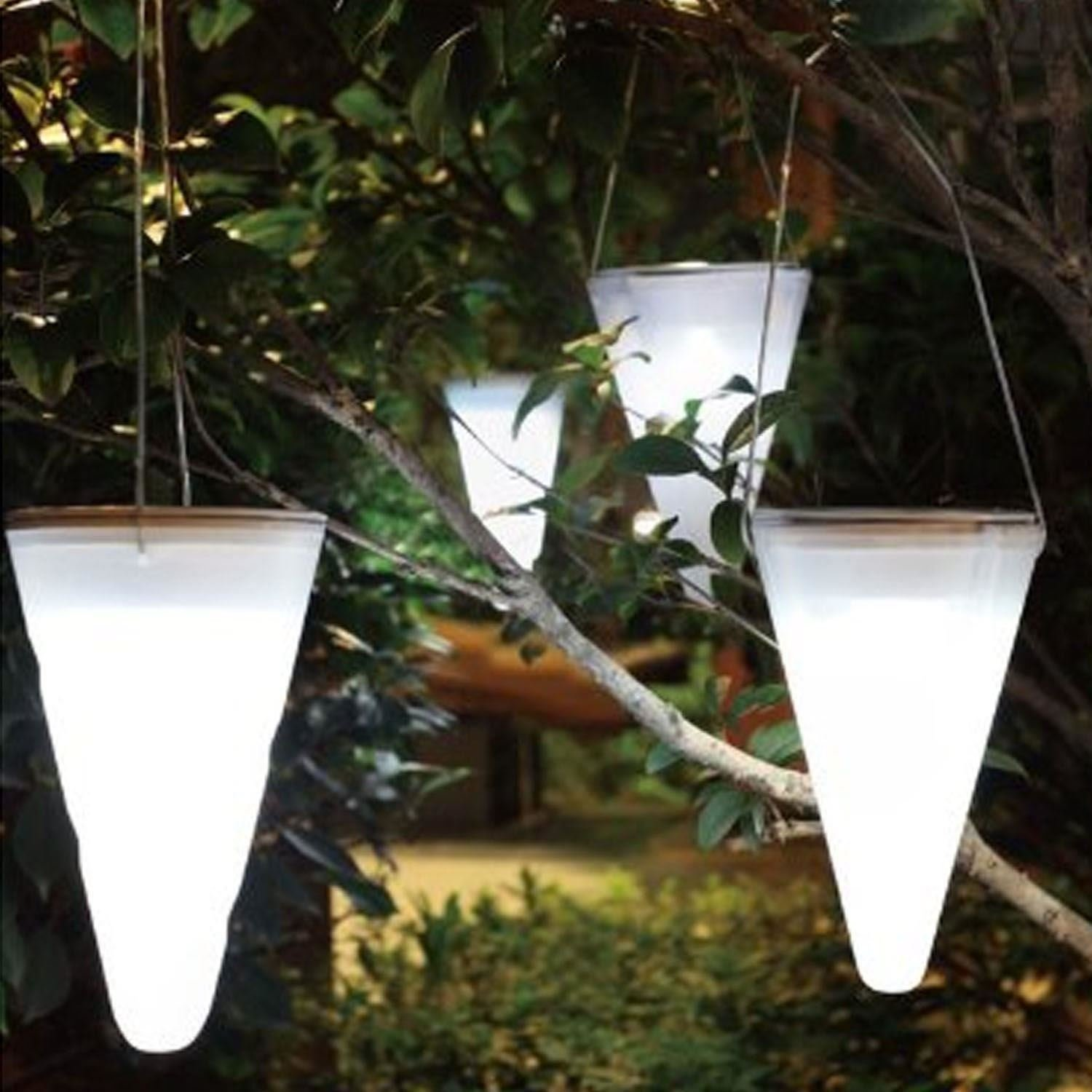 Set of 6 solar outdoor garden hanging tree cornet cone led lights set of 6 solar outdoor garden hanging tree cornet cone led lights amazon kitchen home aloadofball Images
