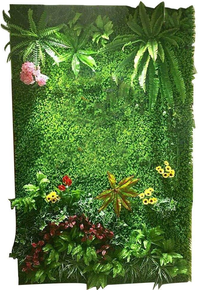 LVZAIXI Balcón Patio Blindaje Seto Césped Jardín Plástico Simulación Plantas Alfombra Colchoneta De Cercado Falso Verde Decoración De Telón De Fondo De La Boda (Color : C, Size : 100x100cm): Amazon.es: Hogar