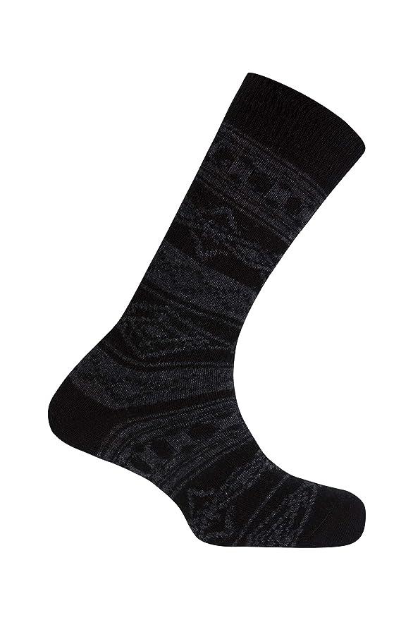 Punto Blanco Lambswool Cenefa nórdica-Club, Calcetines Cortos para Hombre, (Negro 090), One Size (Tamaño del Fabricante:U): Amazon.es: Ropa y accesorios