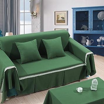 HM&DX Algodón y Lino Funda para sofá para en Forma de l sofá ...