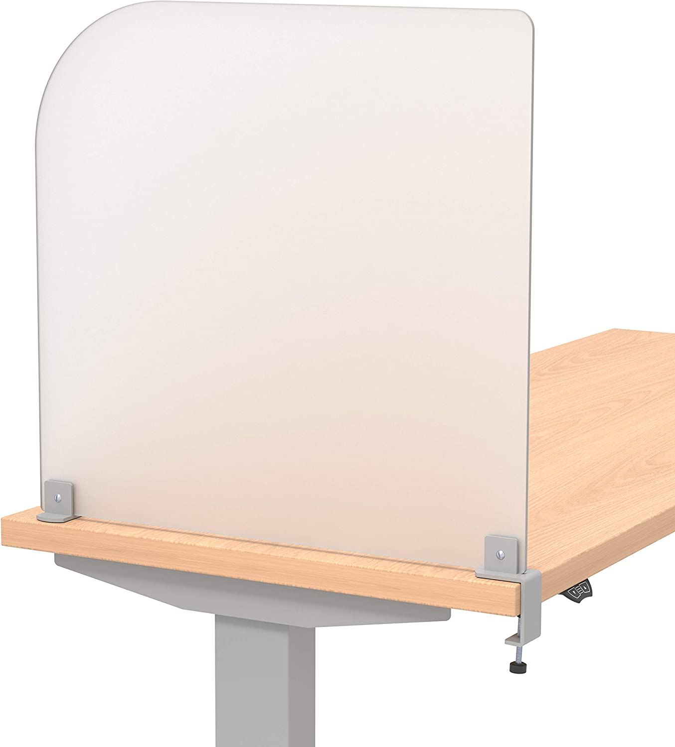 """VaRoom Studio Wing Desktop Privacy Panel – Frosted Acrylic Removable Clamp-on Desk Divider –23"""" W x 22""""H Partition"""