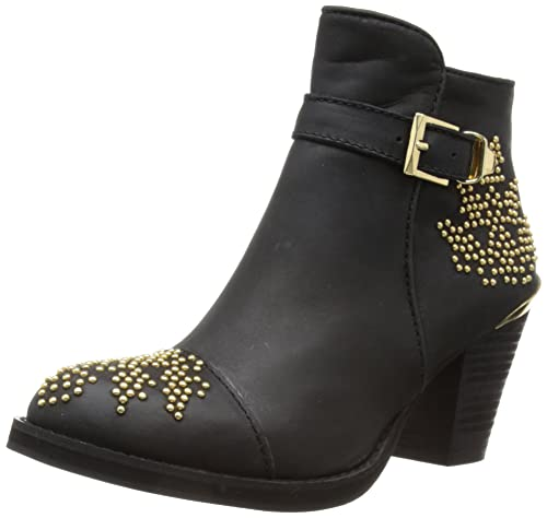 Moda In Pelle Coraline - Botines western, talla 40 (7 UK), color negro - negro: Amazon.es: Zapatos y complementos