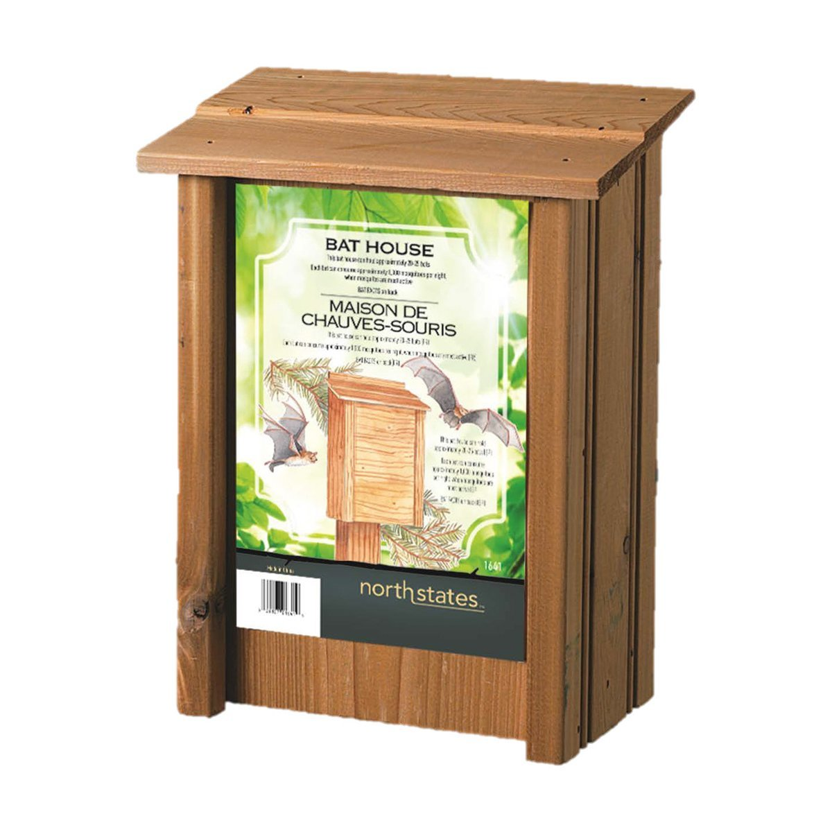 North States 1641 8-Inch by 4-3/4-Inch by 15-Inch Bat House by North States