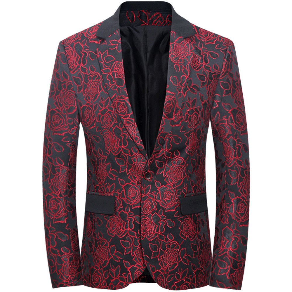 Tuxedo for Men, Blazer for Men, Jacket Men Slim Fit Versace Shirt - Men's One Button Jacket Suits