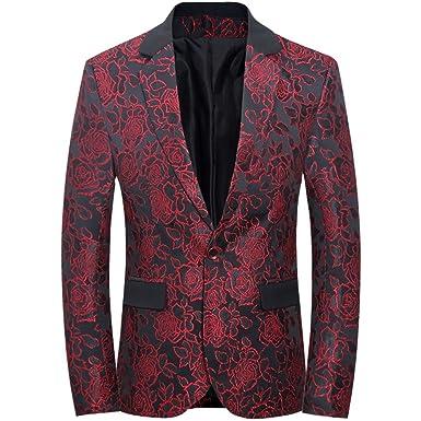 bbd45c1b Tuxedo for Men, Blazer for Men, Jacket Men Slim Fit Versace Shirt - Men's  One Button Jacket Suits at Amazon Men's Clothing store: