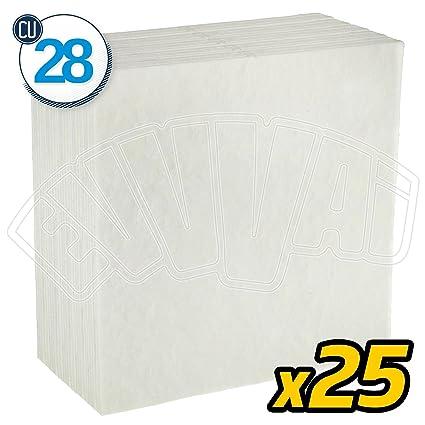 25 Pz Cu28 Cartoni Filtranti Universali 0 3 Micron 20x20