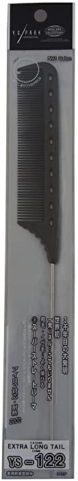 YS Park Extra Long Tail Comb 122 In CARBON from ProHairTools