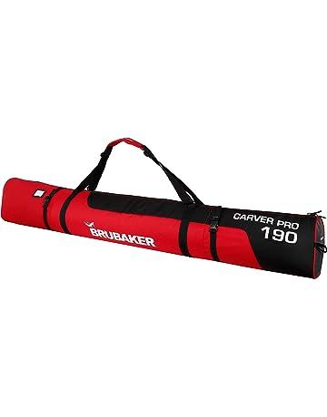 B/âtons pour 1 Paire de Skis 170 ou 190 cm Housse /à Skis rembourr/ée Brubaker Carver Champion Jaune Fluo//Noir
