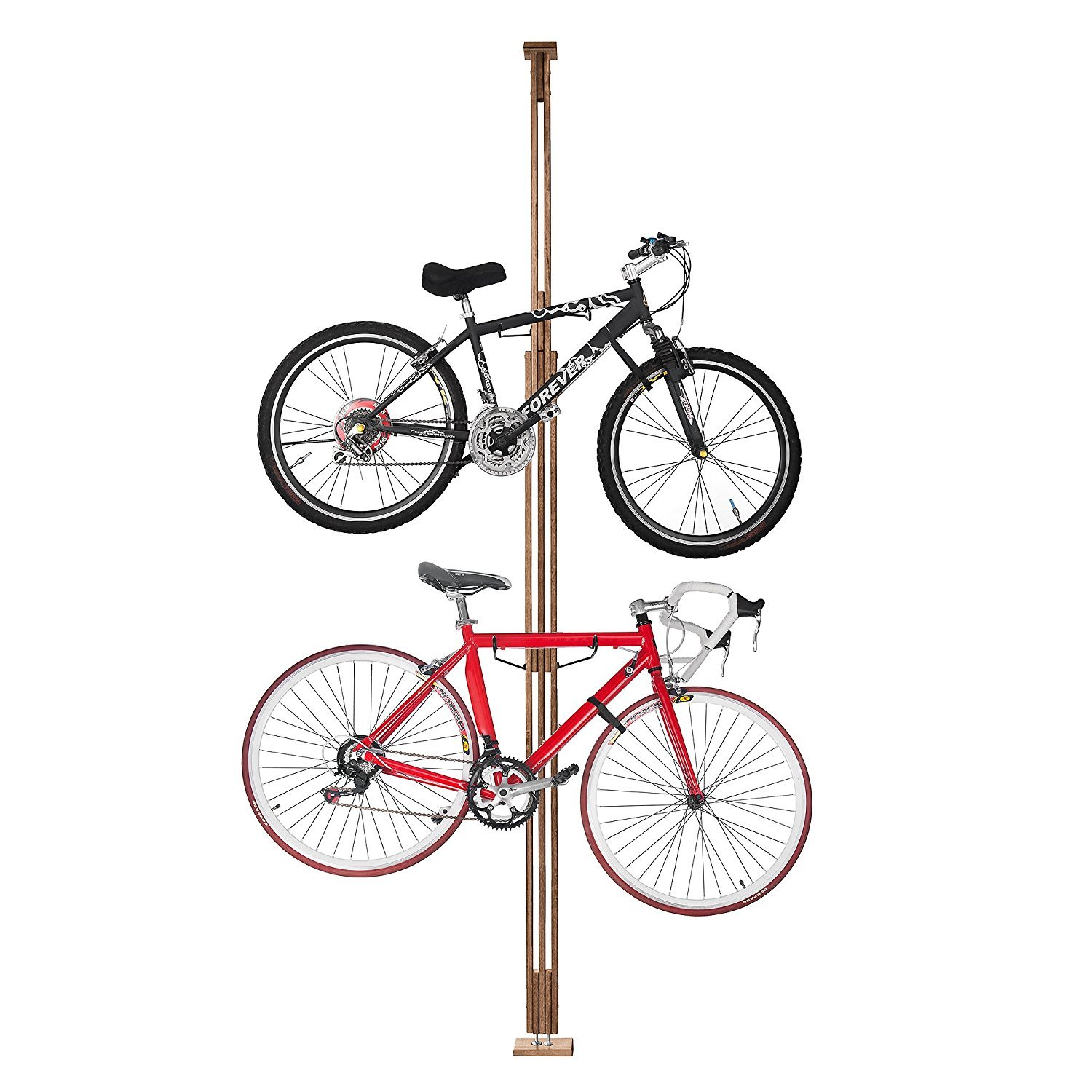 2021 RAD Cycle Woody Bike Stand Bicycle Rack Storage Display Holds Two Bicycles RAD Cycle Products 2021 Woody Bike Rack