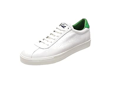 Superga 2843 Comfleau, Baskets Mixte Adulte, Blanc (White-Island Green SN57), 45 EU