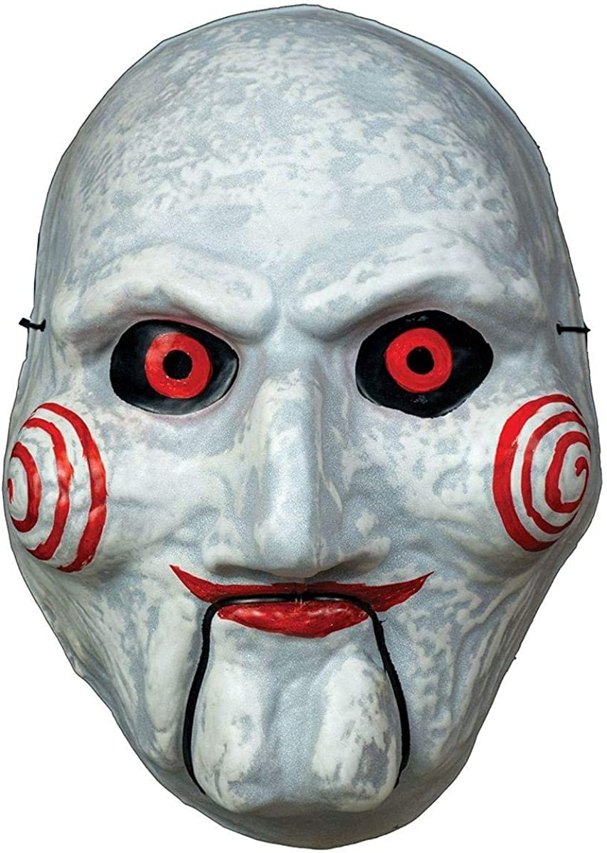 LICENSED BILLY LATEX PUPPET MASK JIGSAW ADULT MENS HALLOWEEN COSTUME ACCESSORY