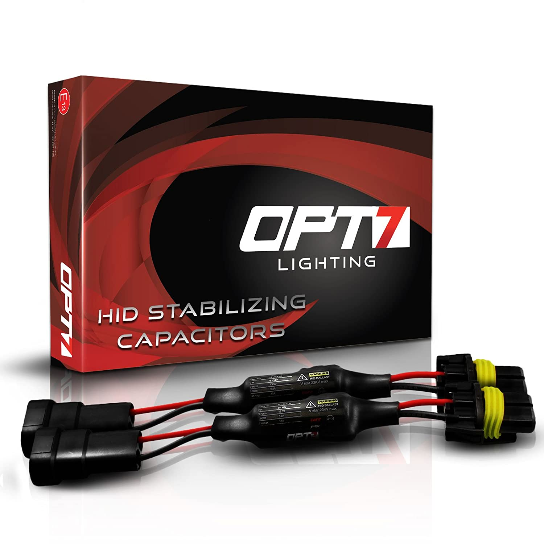 OPT7 HID Anti-Flicker Capacitors Warning Light Canceler Error Eliminator  (Pair)