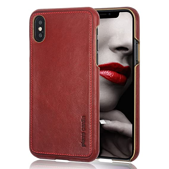 info for f68a0 2536c iPhone X Leather Case, Pierre Cardin Genuine Cowhide Protective Hard Back  Cover for iPhone X (Red)