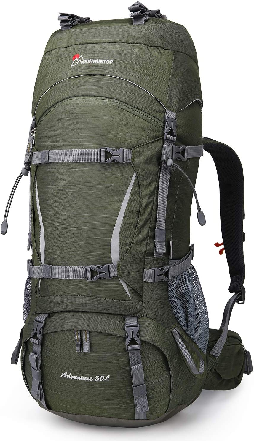 MOUNTAINTOP 50 Liter Hiking Internal Frame Backpack with Rain Cover