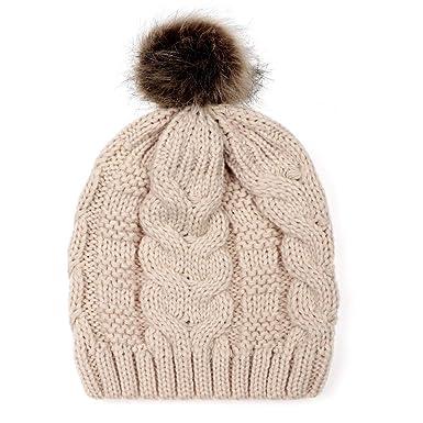 Elecenty Cappellino per berretto invernale con berretto di lana lavorato a  maglia Berretto Sci in maglia da donna  Amazon.it  Abbigliamento 951f5a948a9e