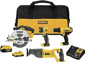 DEWALT 20V MAX Cordless Drill Combo Kit , 4-Tool (DCK445D1M1)