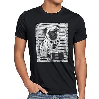 d5385be0564c style3 Pug Tattoo T-Shirt Herren mops hund gangster rock motorrad tattoed  biker usa  Amazon.de  Bekleidung