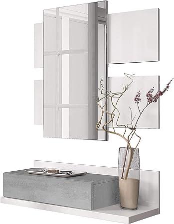 El mueble de recibidor Tekkan es un mueble de recibidor moderno y estiloso, pensado para colgar en l