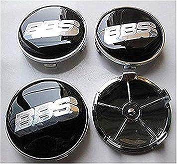 fanlinxin 4 Piezas BBS (Rojo/Negro/Verde) 68 mm tapón de buje Central (Negro/Plata): Amazon.es: Coche y moto