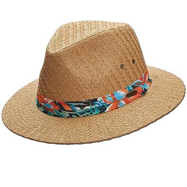 Amazon.com  Panama Jack Tropical Ribbon Matte Toyo Straw Safari Sun Hat fd7eadd5f5e