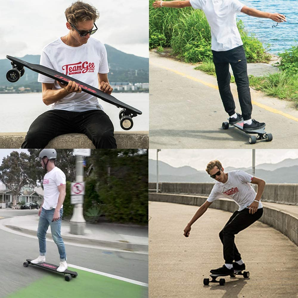 Thin//&/Lightweight/Electric/Skateboard,25/Mph////40Kph/Top/Speed 10/Ply/Canadian/Maple/and/1/Ply/Fiberglass,/with/Wireless/Re Teamgee/H9/38/Ultra