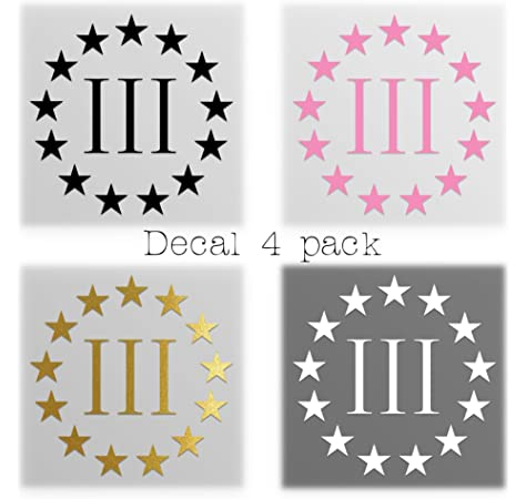 3 Pack!!! - 2nd Amendment - Molon Labe | 3-4 in Decals|RED, White, and Blue|KCD637 Three Percenter Vinyl Decals Stickers