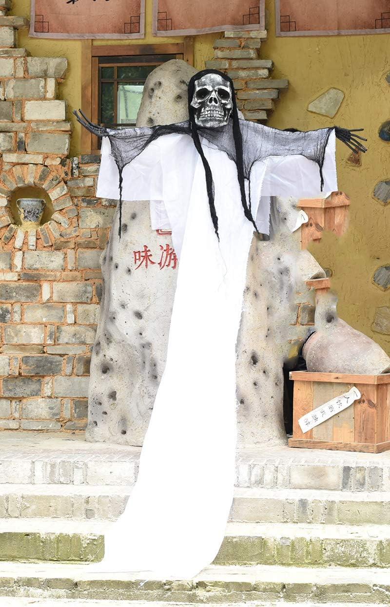 WSJDE 3M Cráneo Halloween Fantasma Colgante Casa encantada eléctrica Espeluznante Halloween Prop Ojos Brillantes Zombie Decoraciones Fantasma de Halloween KU lou da GUI: Amazon.es: Hogar